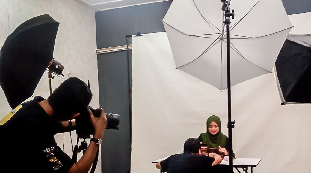 Behind the scene AR Beautyline photoshoot.